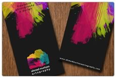 Funky business card design ideas minuteman press print services black reheart Images